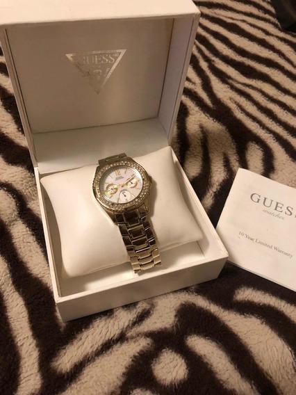 Relógio Guess Feminino Durado C/ Swarovisk Fundo Madrepérola