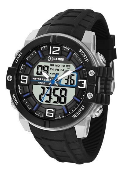 Relógio X-games Masculino Anadigi Xmppa226 Bxpx Azul