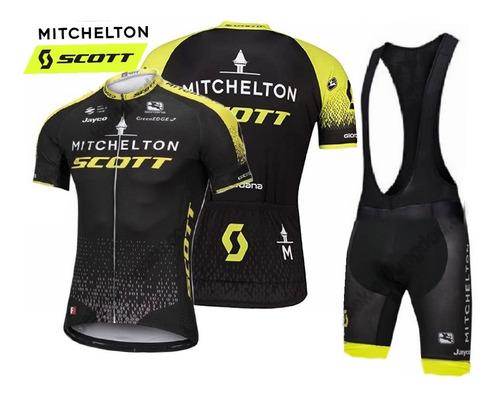 Uniforme Ciclismo  Scott Michelton Badana En Gel