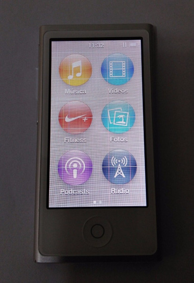 iPod Nano 7 16gb Prata Usado (defeito Lcd) - Leia - Lf0gt