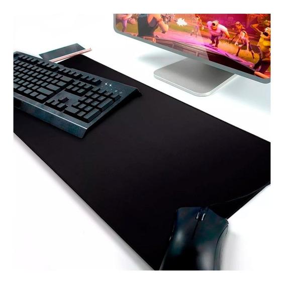 Mouse Pad Gamer Extra Grande Preto Teclado E Mouse Mp-7035c