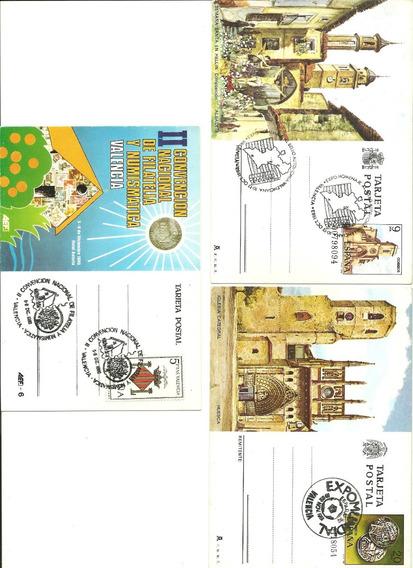 España: Tres Postales Año 1980/1981/1983