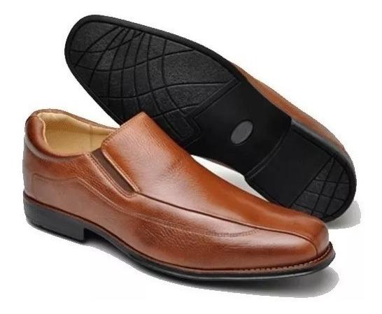 Sapato Social Masculino Em Couro, Forro Couro, Tamanho 46