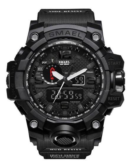 Relógio Militar Esportivo Smael 1545 Preto