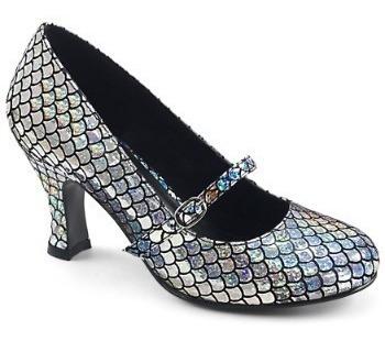 Zapatos De Sirena Sirenita Plateados Para Damas 1