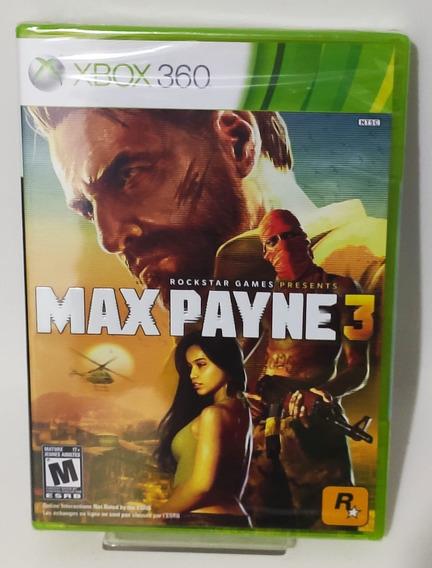 Max Payne 3 - Xbox 360 Original - Novo Lacrado