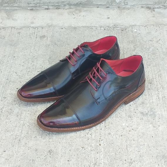 Zapato De Cuero De Hombre Suelado