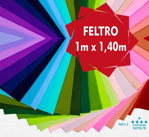 Tecido Feltro Santa Fé Cores Artesanato 1,00x1,40 Mt