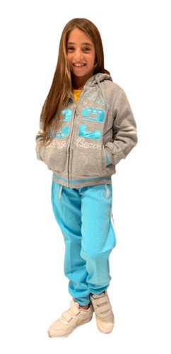 Conjunto De Pants Y Sudadera Para Niñas Long Beach Polo Club