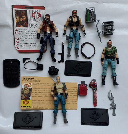 Comandos Em Ação G I Joe Dreadnok Lote Buzzer Monkey Wrench+