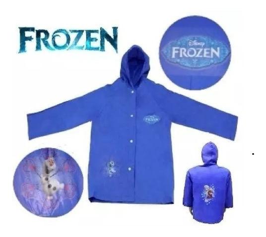 Capa De Chuva Infantil Frozen Disney - M Com Capuz + Brinde