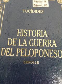 Hist.de La Guerra Del Peloponeso 1-2 De Tucidides Gredos
