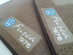 Tapete Vw Fusca Carpete Personalizado Bege 1976 5 Peças