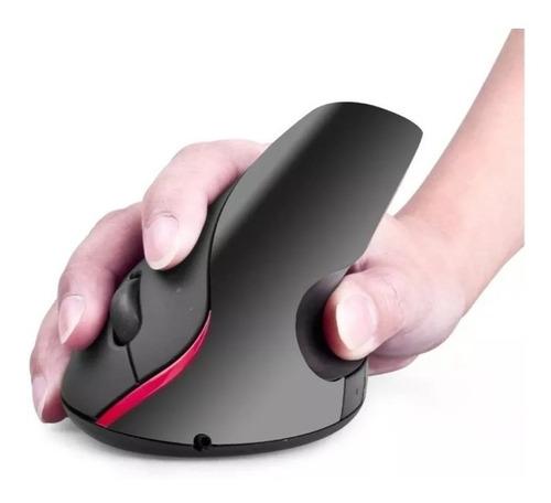 Imagen 1 de 3 de Mouse Vertical Inalámbrico Usb Ergonómico Batería Recargable