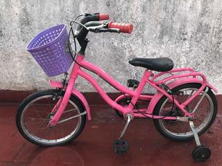 Bicicleta Niñas Rodado 14 Usada