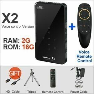 Aun X2 Mini Projetor 2gb + Controle Voice Remote Control