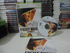 Fight Night Round 3 Xbox 360 Original Completo Mídia Física