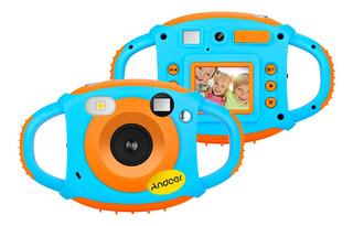 Cámara Andoer Wifi P/niños, 5mp, 1080p, Hd, Diseño Creativo