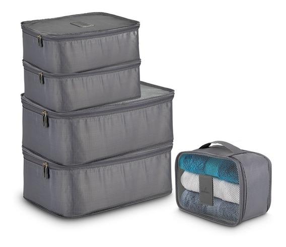 Redlemon Organizador De Viaje Bolsas Cubos Empacar 5 Piezas