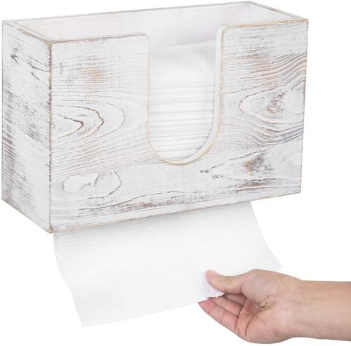 Mygift - Dispensador De Papel De Pared Para Baño (madera Bl