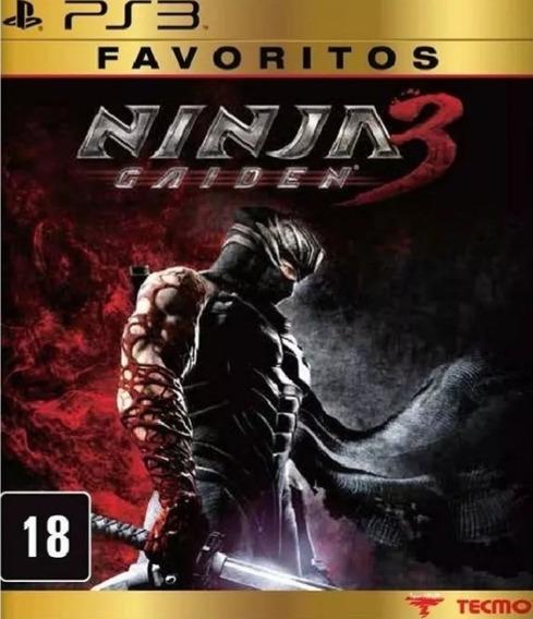 Ninja Gaiden 3 Ps3 Favoritos Mídia Física Novo Lacrado
