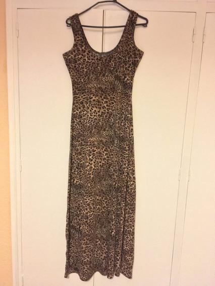 Vestido Animal Print Largo