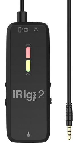 Imagen 1 de 8 de Ik Multimedia Irig Pre 2 Interfaz De Audio Con Phantom