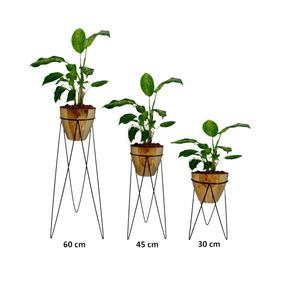 Suportes Para Vaso De Plantas Kit Com 3 Unidades - Tripé