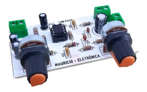 Placa Pre Amplificador Com Filtro Passa Baixa.para Sub.