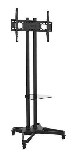 Rack / Suporte Pedestal Com Rodas E Travas Para Tv Lcd/led, Para Tela De 37-75 Ft-6418b - Fixatek