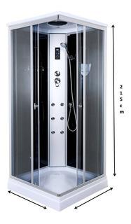 Box De Ducha C/escocesa,radio,luz,tel 90x90 Vidrio 5mm