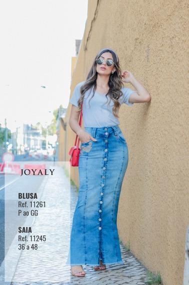 Saia Jeans Longa Joyaly - Lg Ii