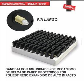 100 Und Modulos Mecanismo Maquinaria Reloj Pared Espigo 20mm