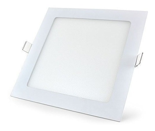 Painel Plafon Luminaria Teto Embutir Quadrado Led 12w Frio