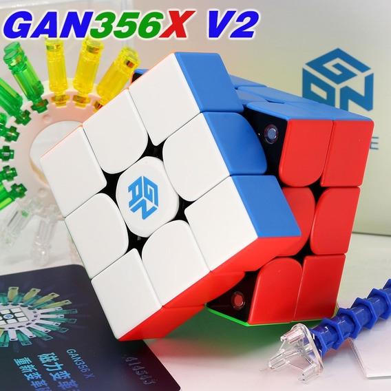 Cubo Mágico 3x3x3 Gan 356x V2 Magnético Color Ipg Numérico