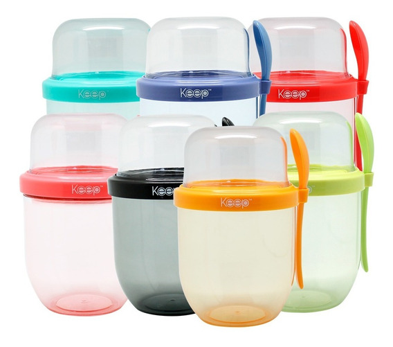 Yogurtera Keep 450ml Vaso Para Yogur Fruta Cereales Pp