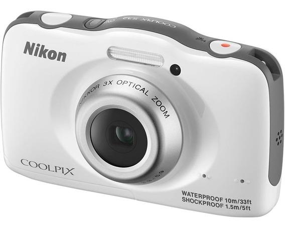 Camera Digital A Prova D¨agua Nikon S32 Seminova