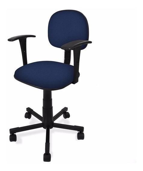 Cadeira Secretaria Giratória Injetada C/ Braço Fixo