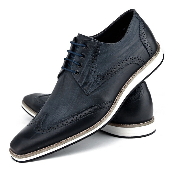 Sapato Oxford Masculino 100% Couro Legítimo Lançamento