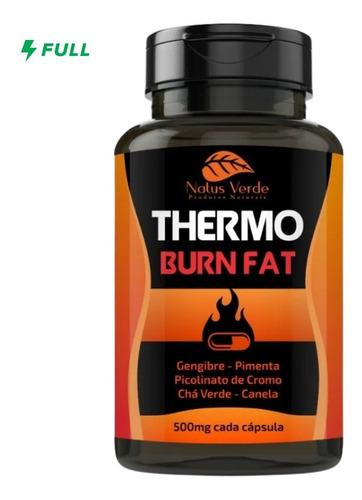 Thermo Burn Fat Acelerador Metabólico - 100 Caps De 500mg