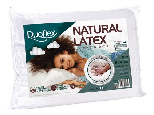 Travesseiro Duoflex Latex Natural Alto 50x70x18