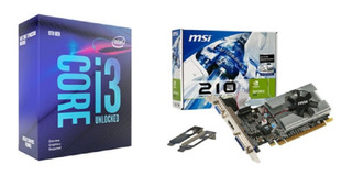 Kit Procesador Intel I3-9100f + Msi Tarjeta Video N210 1gb
