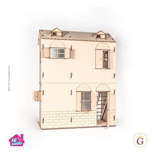 Casa Casita De Muñecas Para Barbie Fibro Fácil Sin Muebles