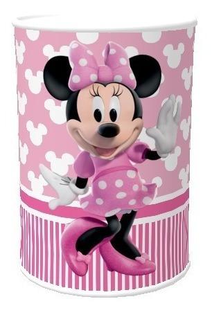Cofrinho Minnie Rosa Personalizado Kit Com 50 Unidades