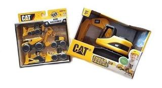 Excavadora Cat Con Cinco Mini Vehículos De Construcción!