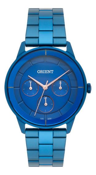 Relógio Feminino Azul Orient Com Data Multifunção Prova D