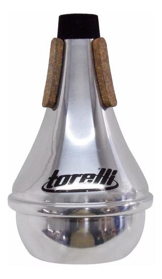 Surdina Trompete Ta-113 Straight Em Alumínio Polido Torelli