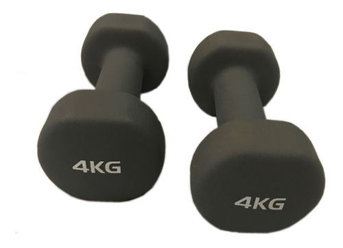 Imagen 1 de 5 de Par De Mancuernas Neoprene De 4 Kg Gym Funcional Fitness Jbh