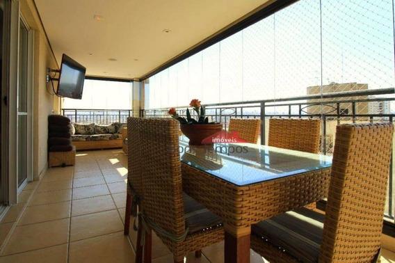 Apartamento Com 3 Dormitórios À Venda, 164 M² Por R$ 1.430.000 - Locação Pacote R$ 7.500,00 Tatuapé - São Paulo/sp - Ap4135