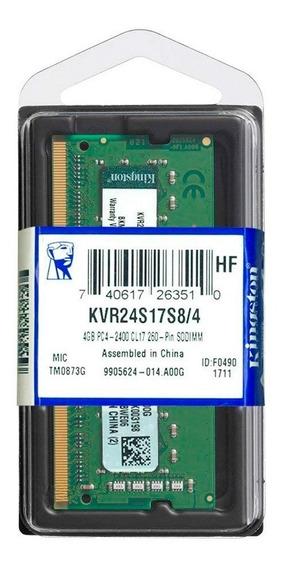 Memoria Sodimm 4gb Kingston 2400mhz Ddr4 4